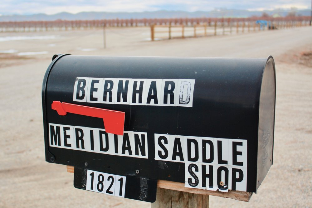 """After Mike Bernhard took over the """"Meridian Saddle Shop"""" in the 1990s, he kept the same name. He recently moved the shop to the outskirts of Emmett."""