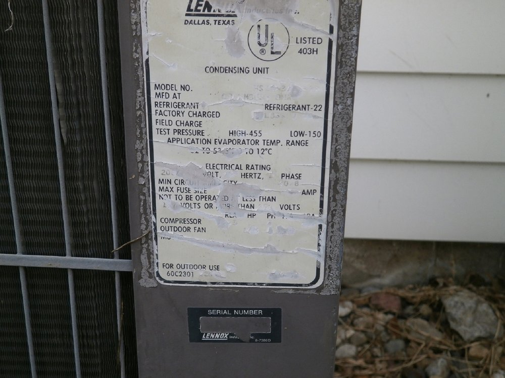 A/C Data Plate