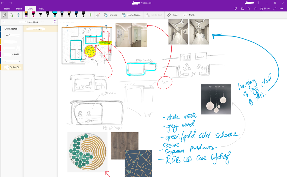 Screenshot of a OneNote Project Notebook