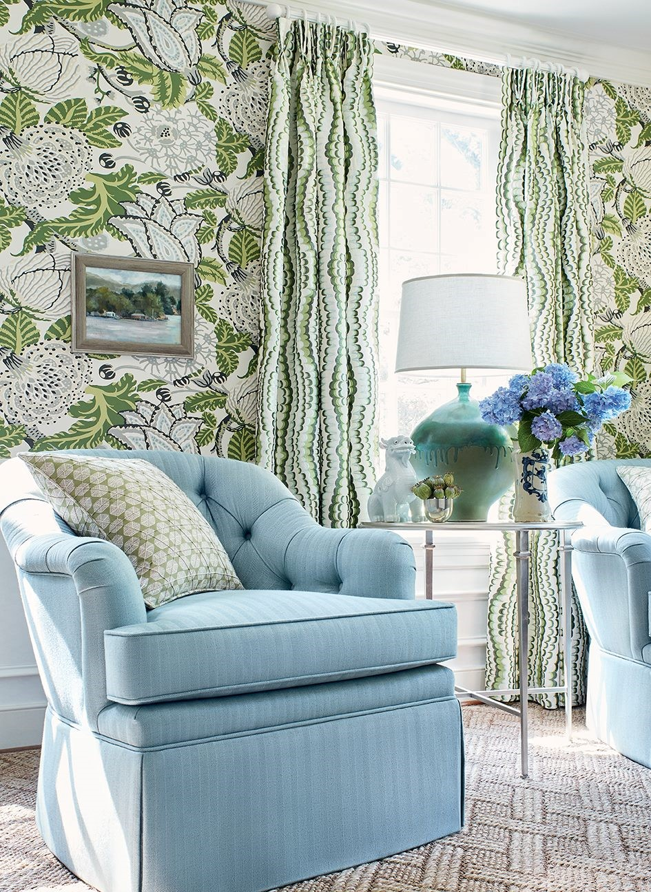 GREEN FLORAL WALLPAPER INTERIOR DESIGNER LEXINGTON KY.jpg