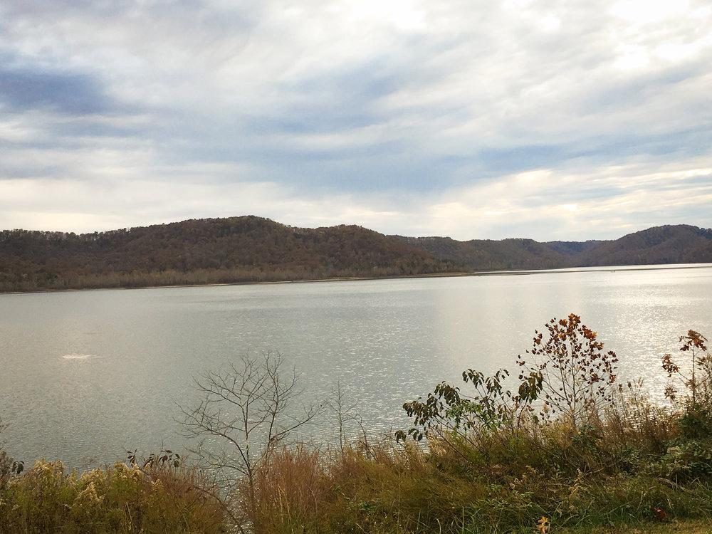 Stunning lake views along the way.