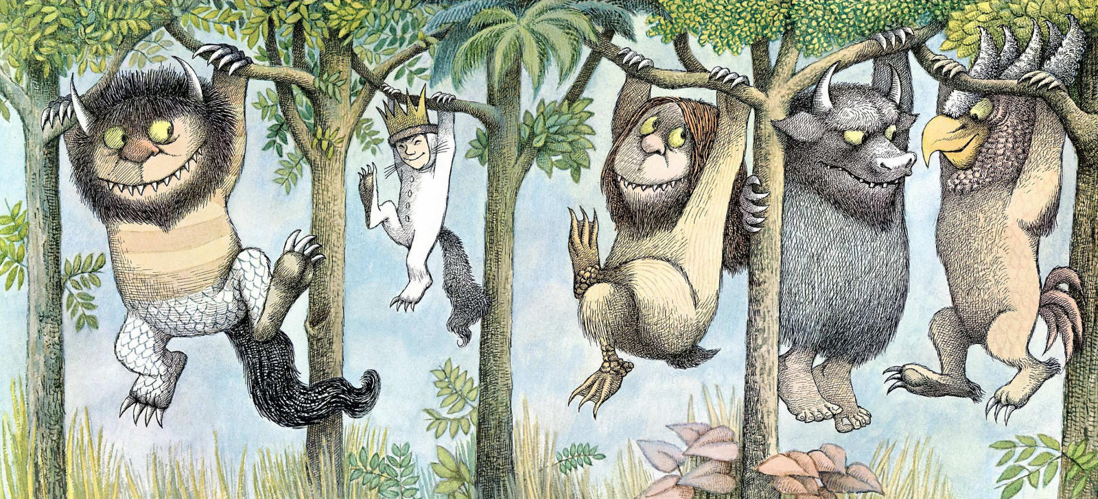 "This image is from ""Where the Wild Things Are"" by Maurice Sendak. You can buy that book here."