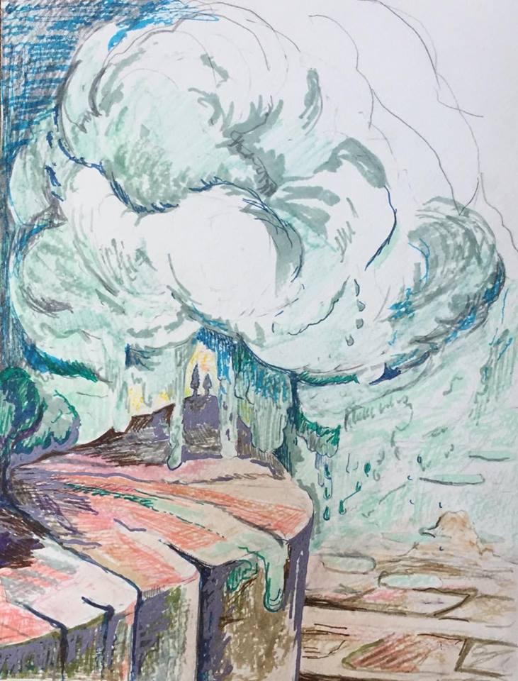 """Witness, 12""""x10"""", 2017"""