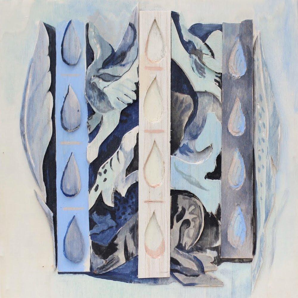"Wall of Tears, 10""x10"", 2017"