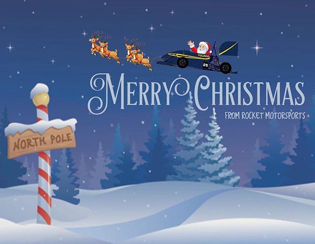 Merry Christmas and Happy Holidays from Rocket Motorsports! • Special Thanks to our sponsors! @general-motors @zf_group @lincolnelectric @hinsonracing @dewittsradiator @thyssenkrupp @puretuning @kennametal @motorstatedistributing @hmsmotorsports @slicustom  @profox.racing • #formulasae #fsae #fsaeparts #formulastudent #racecar #racecars #engineering #engineer #studentbuilt #toledoohio #ohio #universityoftoledo  #ut #photography #blackandwhite #nikon #nikonphotography #photo #photooftheday #car #race #camber #suspension #aero #aerodynamics #competition #motorsports #motor #ktm #christmas