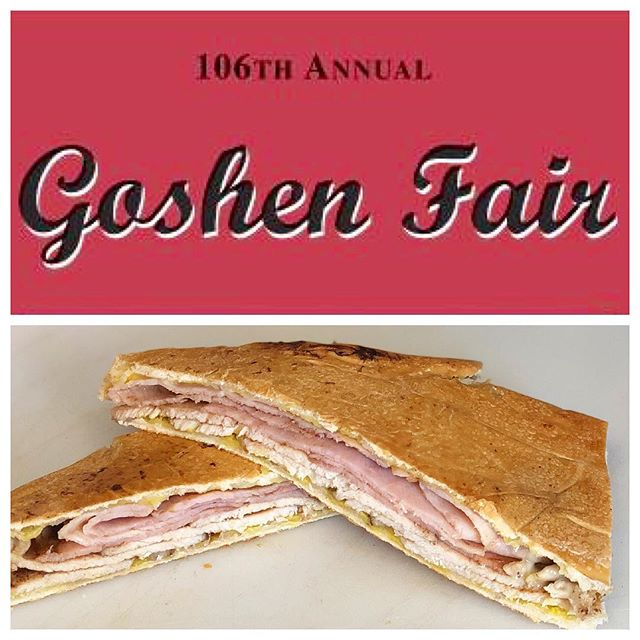 Come get our best selling Cuban sandwich! Only here for 1 more hour at the 106th annual @goshenfair