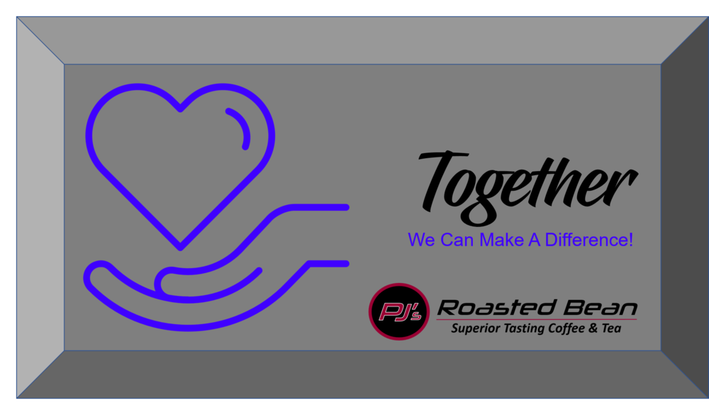 PJs Roasted Bean Coffee and Tea Company Together We Can Make A Difference.png
