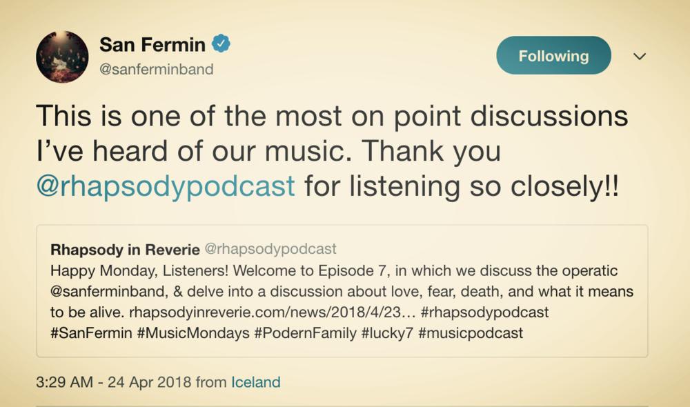 San Fermin on Episode 7