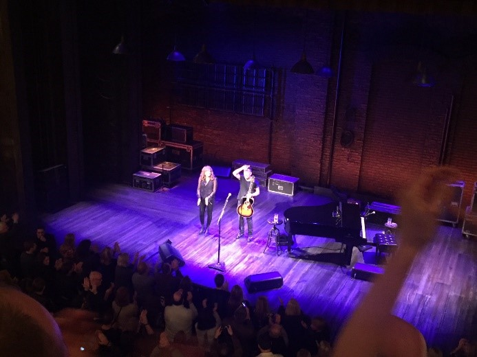 Bruce and Patti taking their bows at the end of the show.