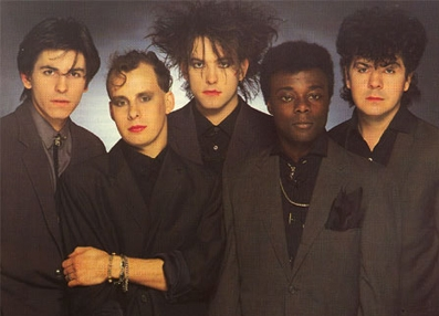 Phil Thornalley, Porl Thompson, Robert Smith, Andy Anderson, Lol Tolhurst