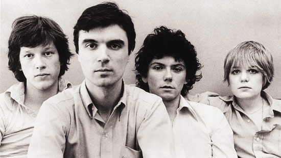 Talking Heads LtoR: Chris Frantz; David Byrne; Jerry Harrison; Tina Weymouth