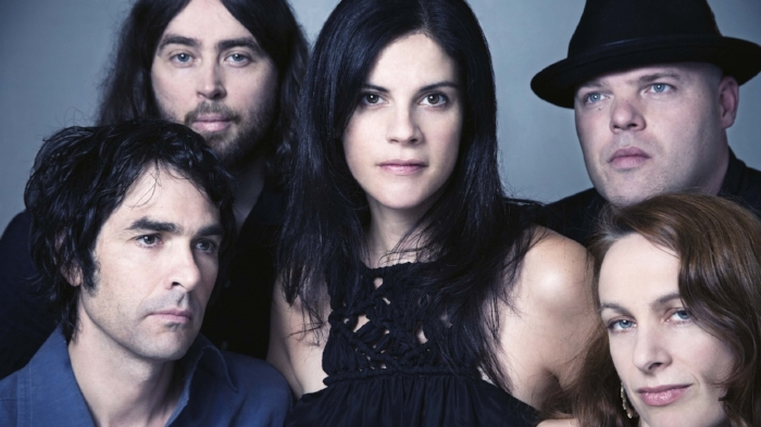 Boss Hog, with husband and wife duo Jon Spencer (bottom left) and Cristina Martinez (centre), and also drummer Hollis Queens (bottom right)