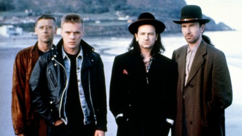 1987, during an apparent hat phase for Bono and The Edge
