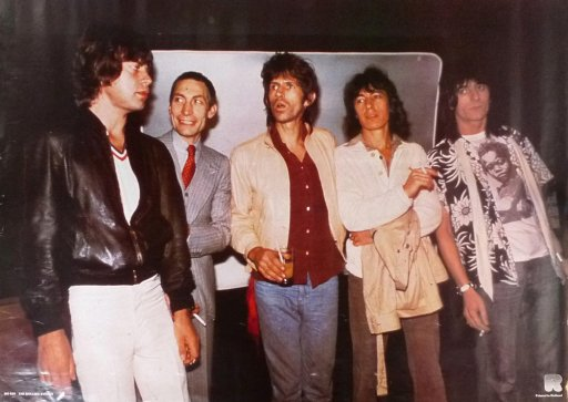 1976: Mick, Charlie, Keith, Bill, and now Ron Wood