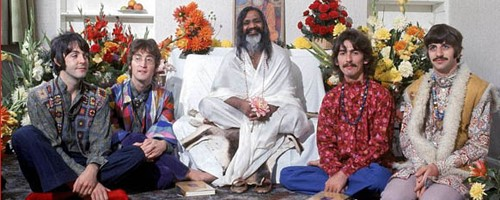 The band with the Maharishi