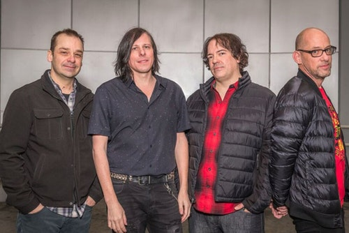 The Posies' 2018, 30th anniversary tour included a return to their  Frosting on the Beater  line-up: Mike Musberger, Ken Stringfellow, Jon Auer, and Dave Fox.