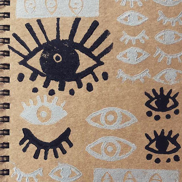 Close up look at a custom made journal 📓 📓📓 . . . . . . . . #customart #printmaking #customized #todaylooksbeautiful #maketodaybeautiful #pdxnow #eyes👀 #artistsoninstagram #portlandoregon