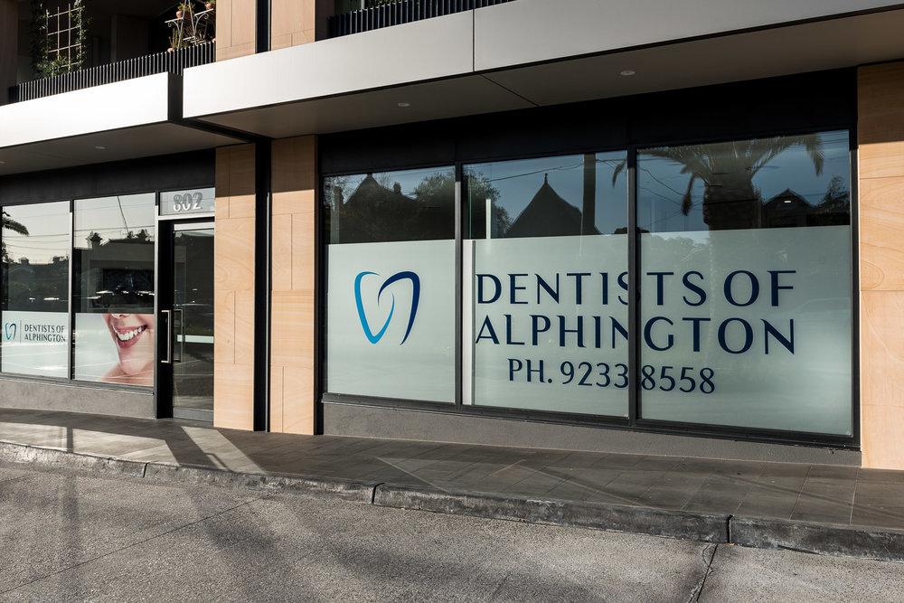 Dentists of Alphington parking