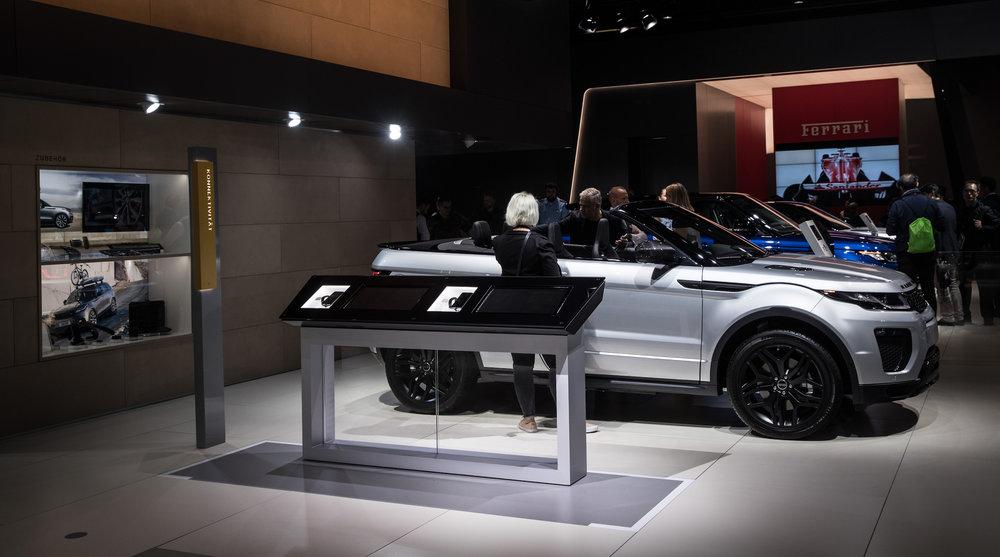 Jaguar Land Rover Frankfurt Auto Show Stand 2017