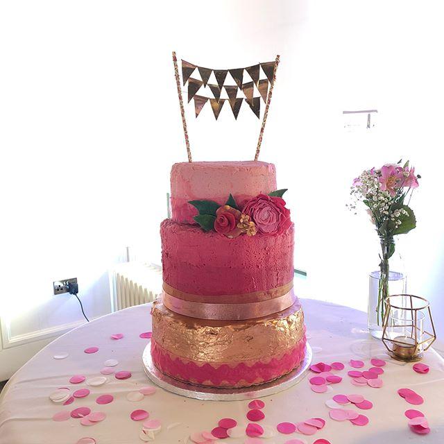 We made a cake!