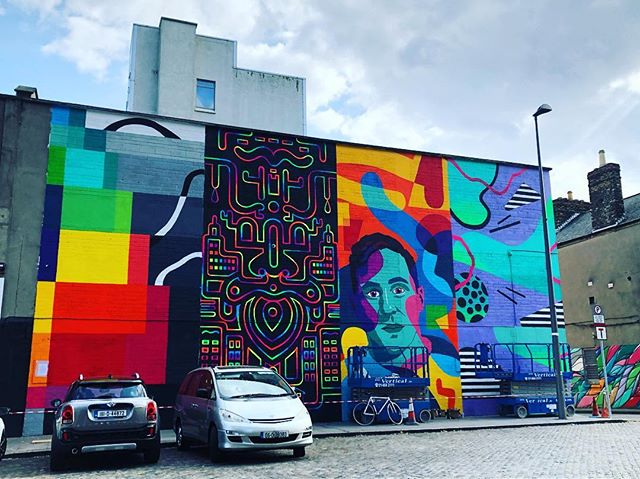 Love the colourful mural in Smithfield