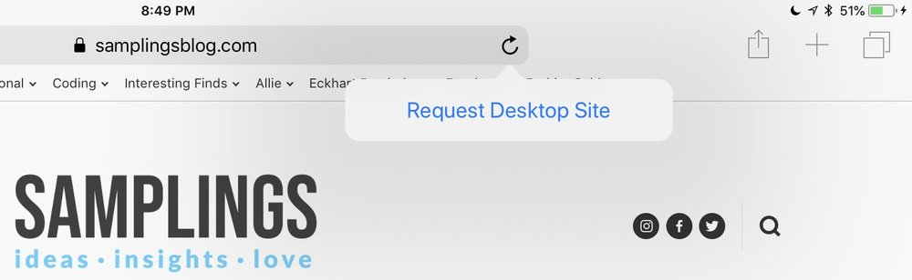 This theoretically handy feature is more often than not useless as websites have the option to ignore the requests and default to their mobile versions when they're accessed by iPad's version of Safari.