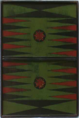 Green Backgammon With Suns
