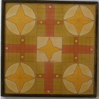 Star of Rosalie Parcheesi Game Board