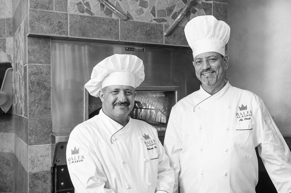 Founding Chefs Abu-Snan (left) and Abu-Fahd (right)