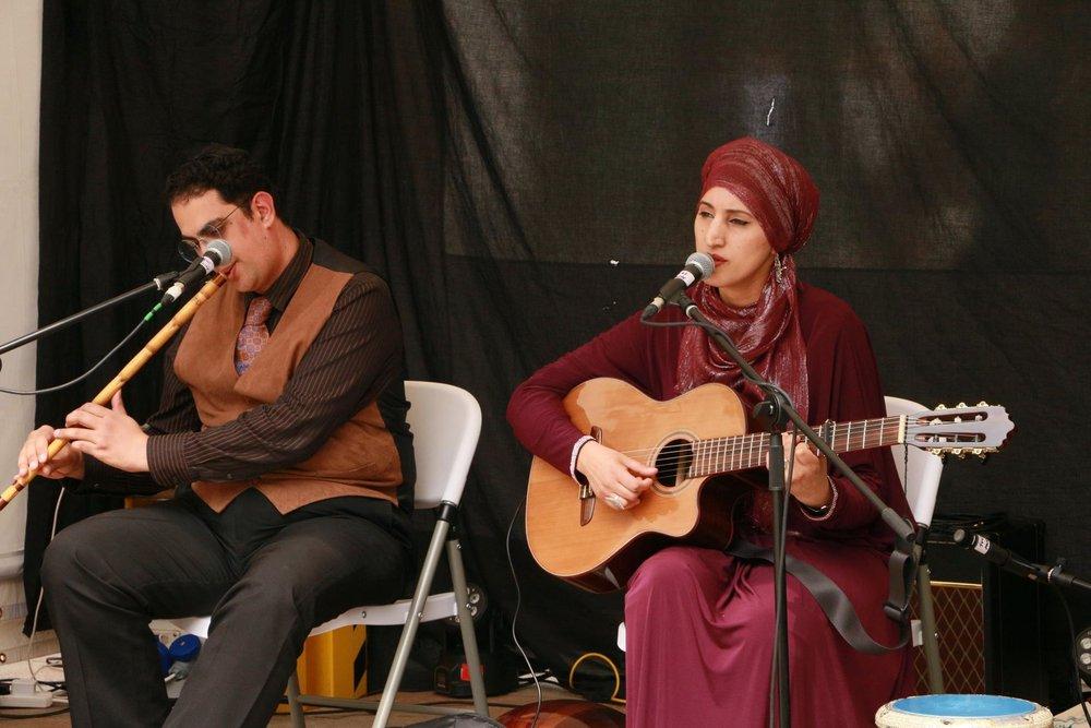 Mina Mikhail Salama with Sarah Yaseen