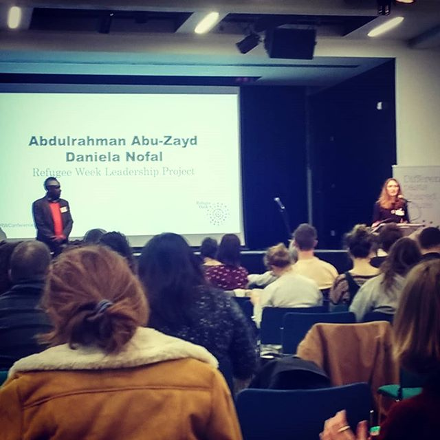 Inspiring talk, song & poetry @refugeeweekuk #Leadership Programme at #refugeeweek2019conference today