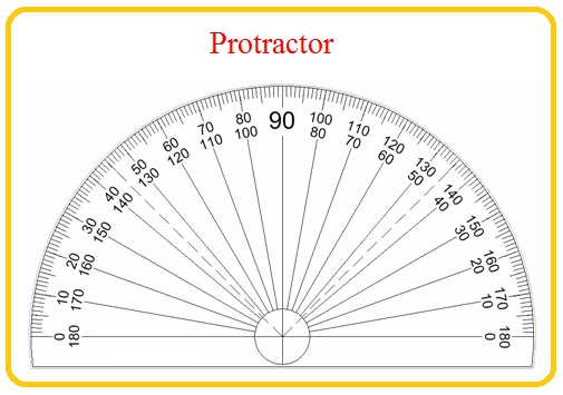 protractor 180 degrees