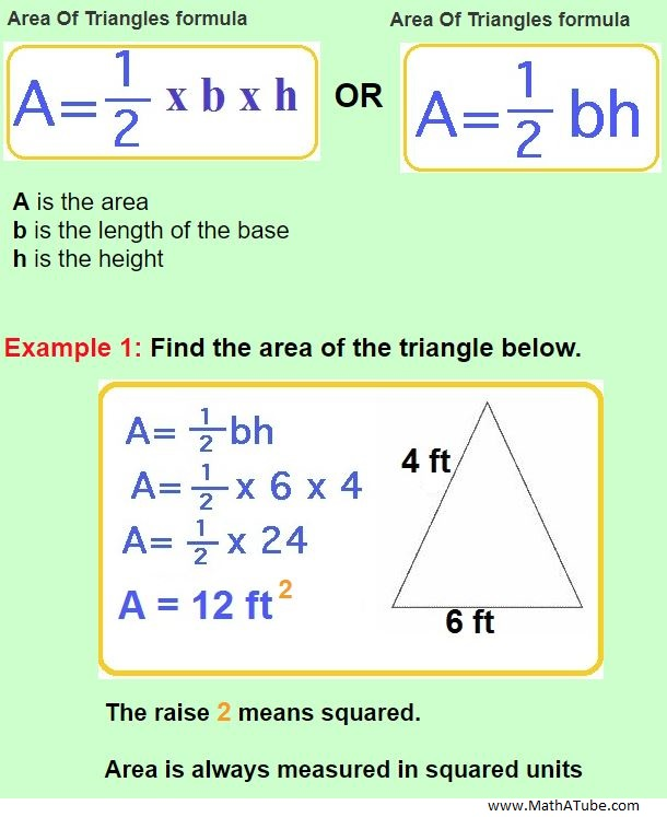 finding area of a triangle
