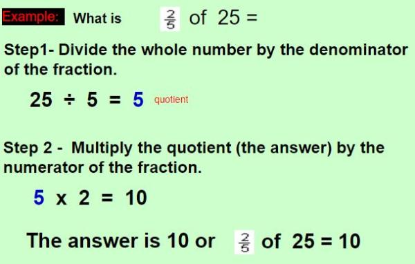 finding fraction of a number