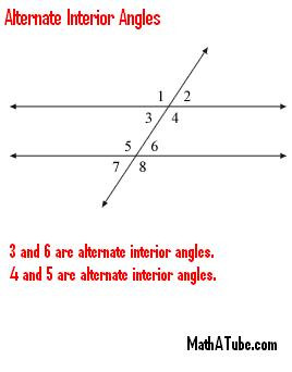 alternate-interior angles