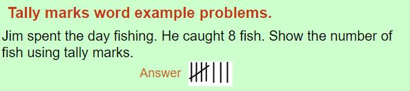 tally marks word problem