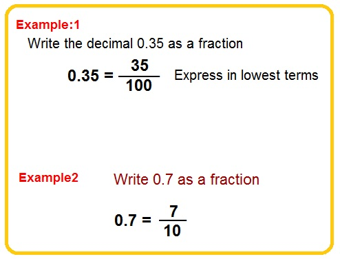 change decimals to fractions
