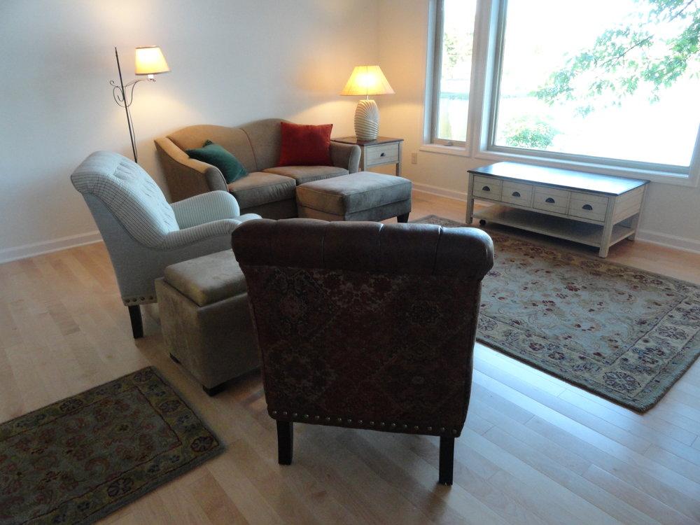 East cottage living room