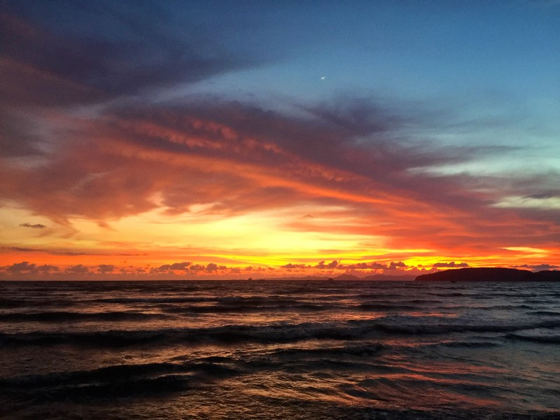 Most incredible sunset I had ever seen. — Ao Nang, Thailand