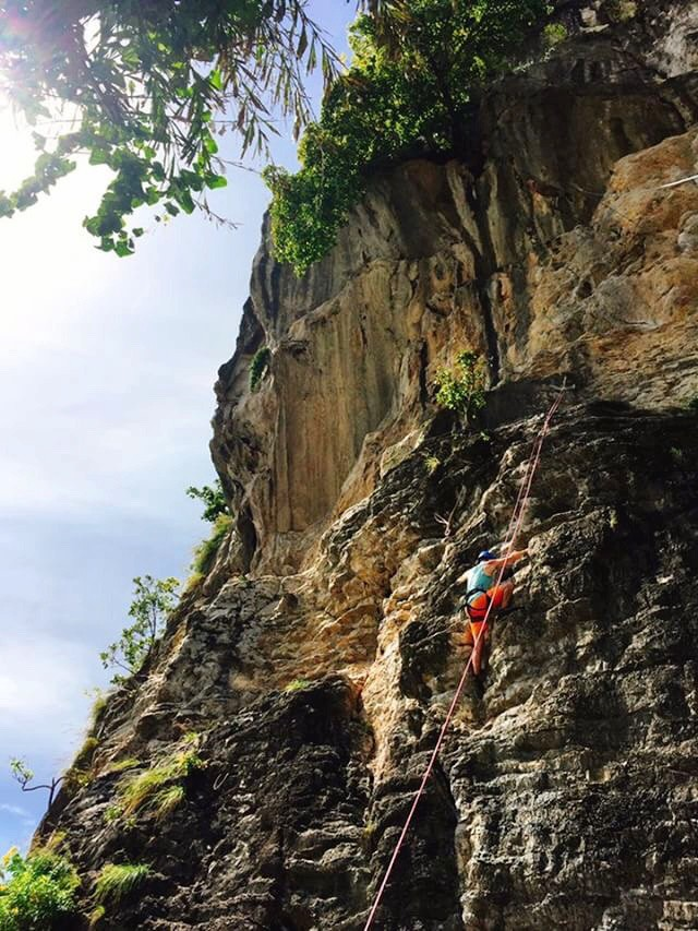 Some insane rock climbing by Railay beach.