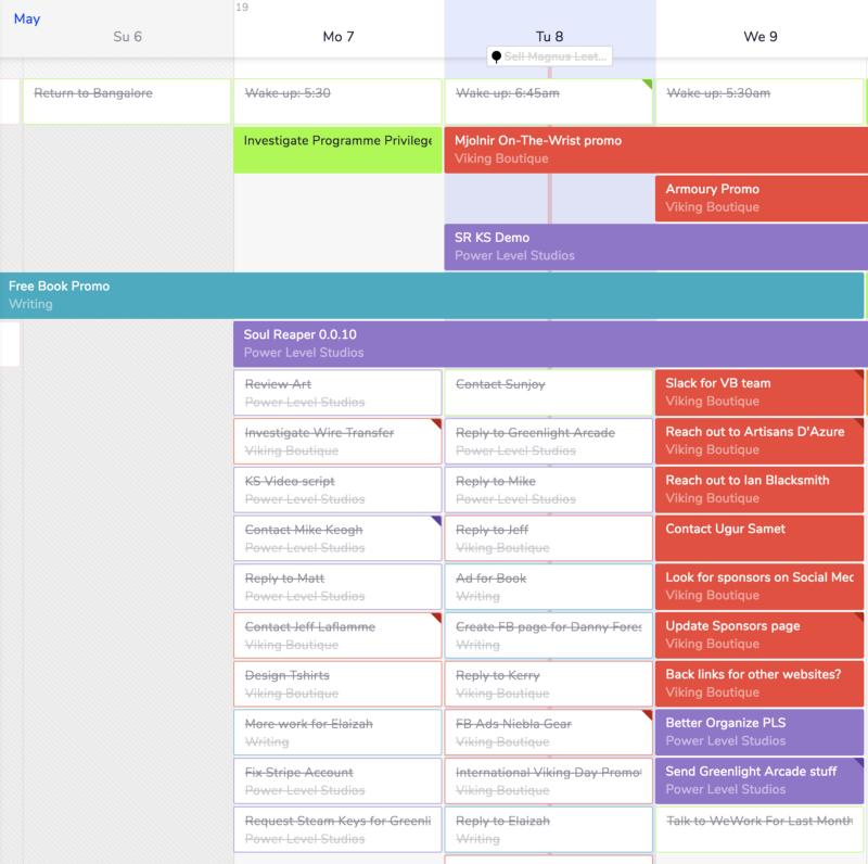 My task list on TeamWeek