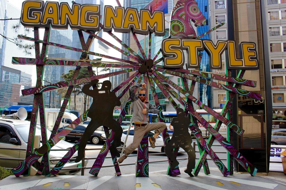 Danny having fun in Gangnam-gu, Seoul, South Korea