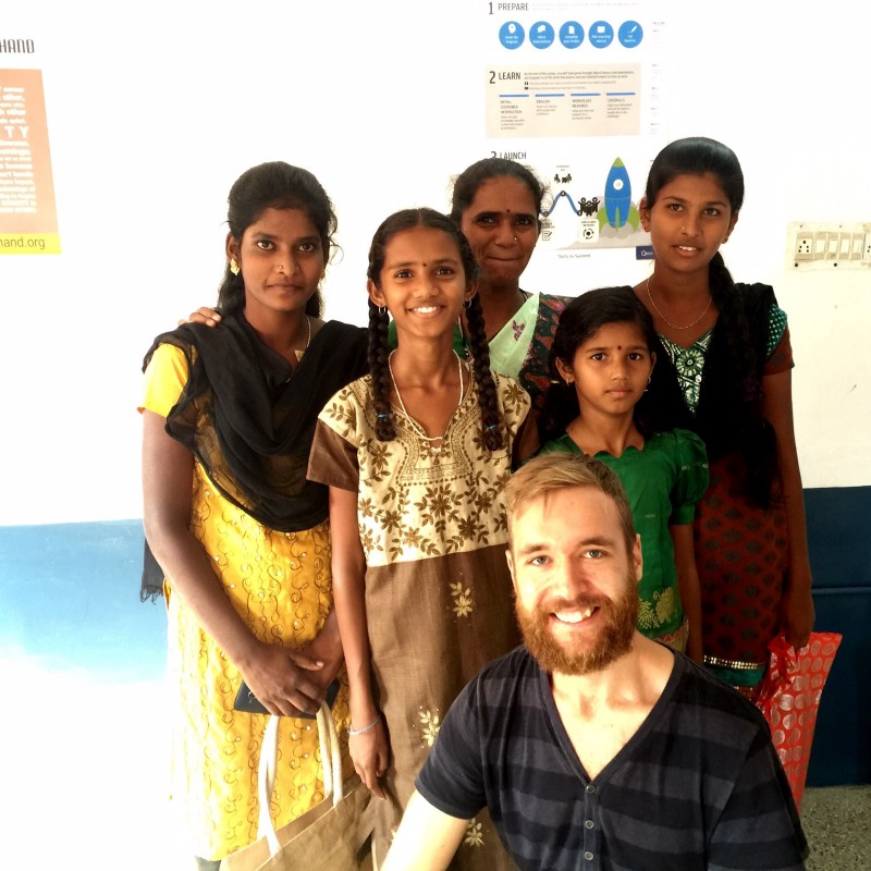 Me with students from the Skill Development Centre where I was helping out.