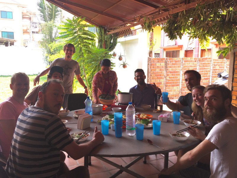 Family-style dinner at  AngkorHUB  coworking/coliving space in Siem Reap, Cambodia. One of my favourite coworking spaces in the world. I went there again for a longer term. We volunteered to help  Jeff Laflamme , via workaway.info