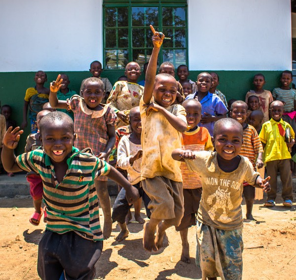 Children of the Bukompe refugee camp/village.