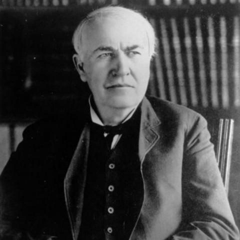 Thomas A. Edison. Photo credit: biography.com