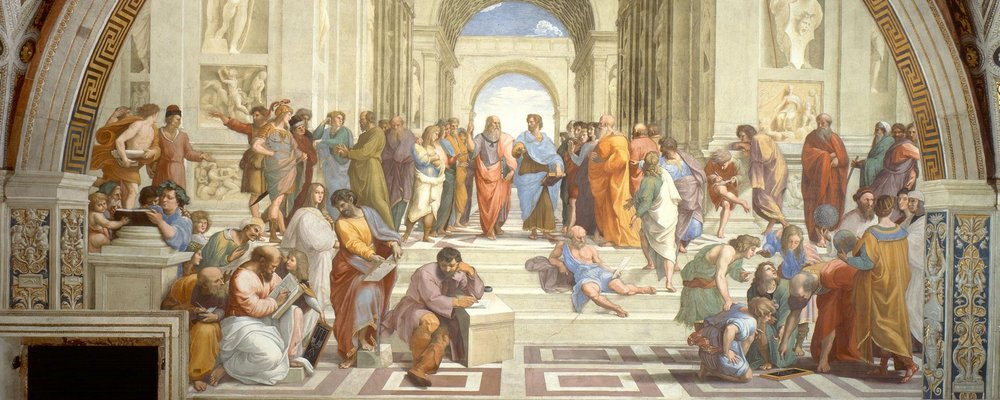 Painting of the School of Athens, by Raphael (1511 AD)