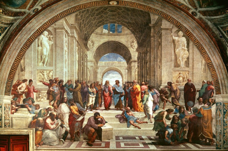 Painting of the  School of Athens  by  Raphael