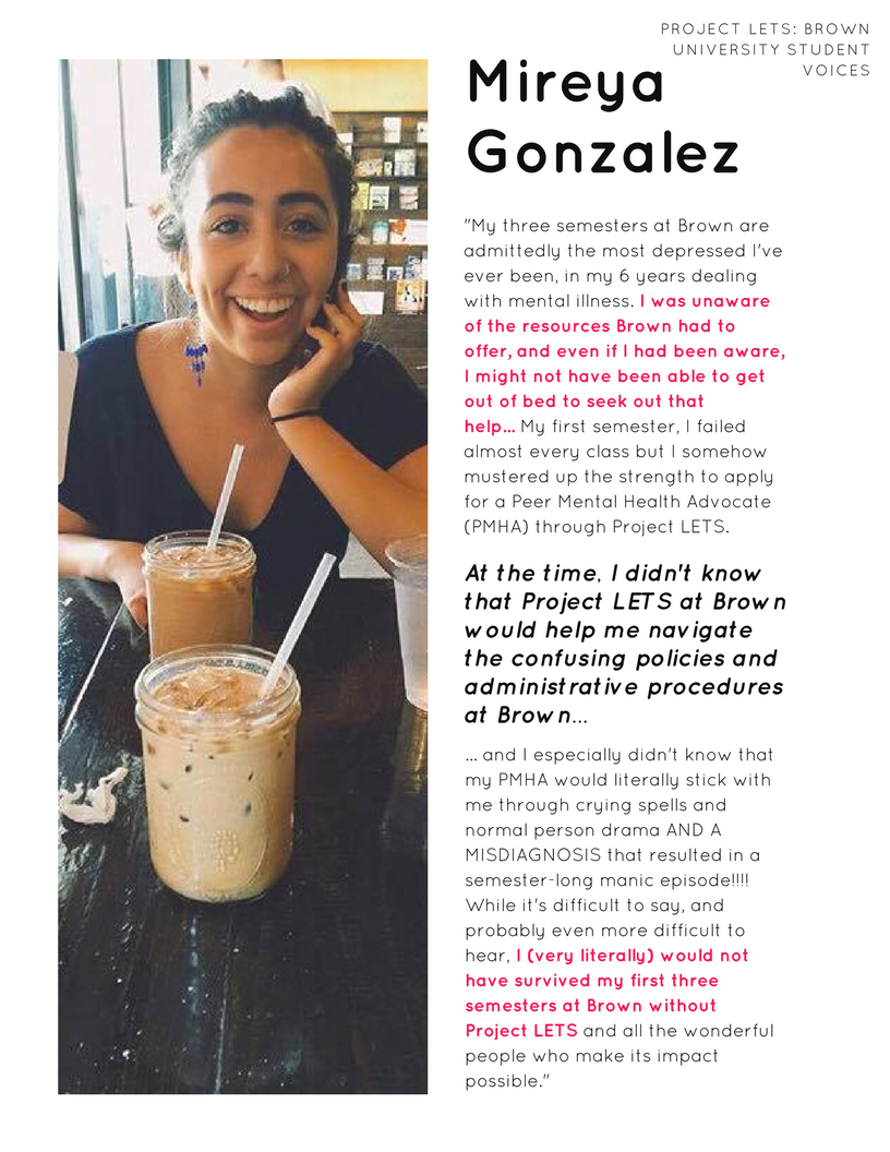 Project LETS: Brown University Student Voices -  Mireya Gonzalez