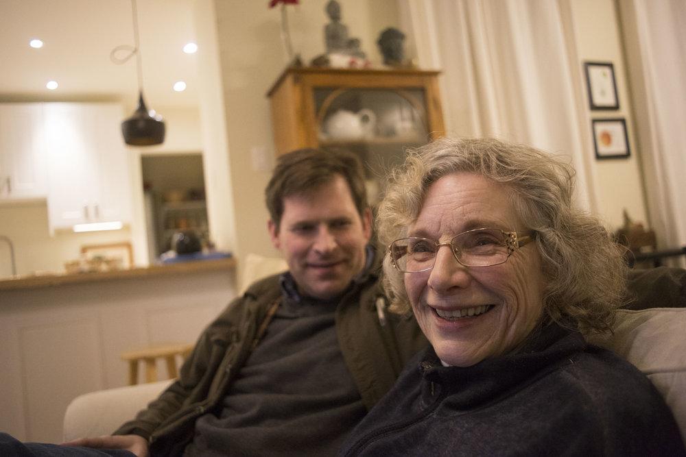 Dorothy with her first born son Joe Foley